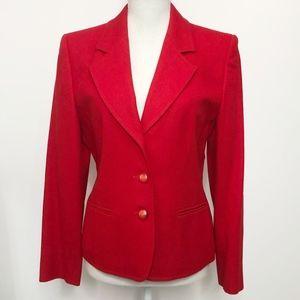 Pendleton Red Virgin Wool 3-Button Blazer Jacket